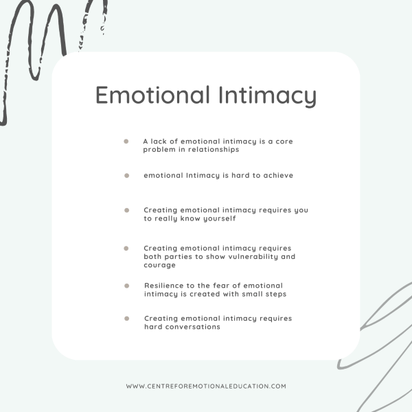 Emotional intimacy Centre for Emotional Education