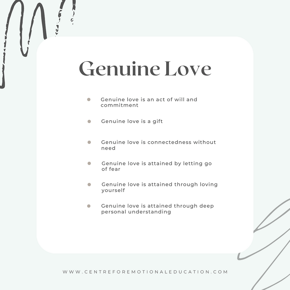 Genuine Love Overview by Centre for Emotional Education